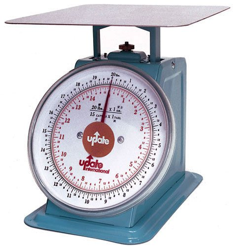 Update International UP-810 Analog Portion Control Scale with Enamel Finish, 10-Pound