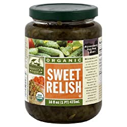 Woodstock Farms Relish, Sweet, 16-Ounce (Pack of 12)
