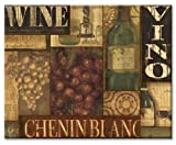 CounterArt Wine Labels Collage Glass Cutting Board, 14-7/8 by 11-3/4 Inches