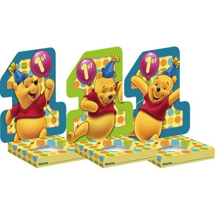 Pooh's 1st Birthday Cupcake Holders 6ct