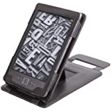 Duragadget Genuine Leather Case & Cover with Stand for Kindle - Black