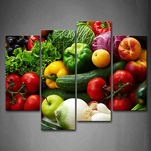 Colorful Various Vegetables Wall Art Painting Pictures Print On Canvas Food The Picture For Home Modern Decoration (Fruit And Vegetables Posters compare prices)