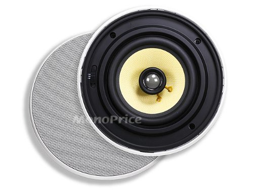 Monoprice 6-1/2 Inches Easy-Install In-Ceiling Speaker (Pair) - 40W Nominal, 80W Max