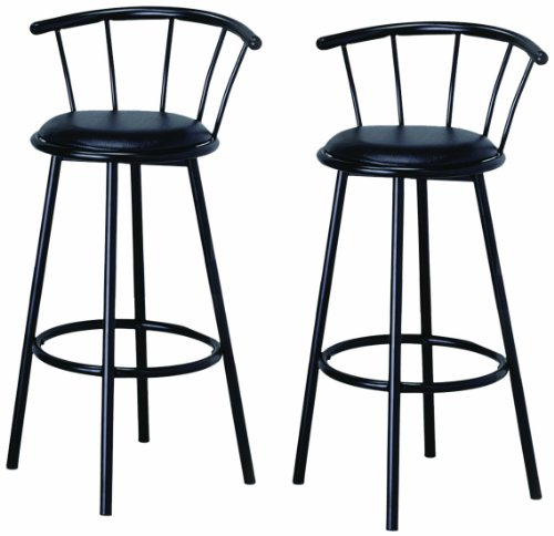 Btexpert swivel dining bar stool chairs with footrest for Breakfast bar stools with backs