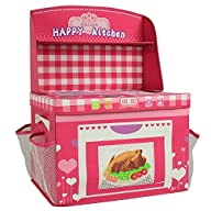 2-1 Pink Kitchen Toy, Foldable Storage Box and Cushion Seat. Includes 3D Puzzle of Adventure Ship,…