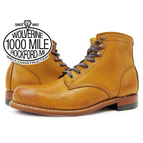 (ウルヴァリン)WOLVERINE 1000 MILE BOOT PLAIN TOE BOOT TAN [並行輸入品]