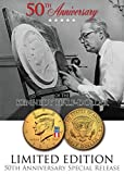 24K Gold Plated 50th Anniversary *50 YEAR LOGO* 2014 JFK Half Dollar US Coin (D)