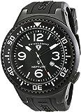 Swiss Legend Men's 21818P-BB-01 Neptune Collection Black Textured Rubber Watch