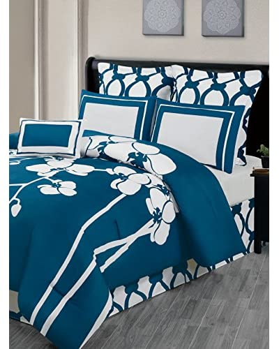 Duck River Textiles April Orchidea 6-Piece Reversible Oversize/Overfilled Comforter Set