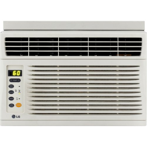 LG Energy Star 6,000 BTU Window Mounted Air Conditioner with Remote Control (115 volts)   LW6012ER