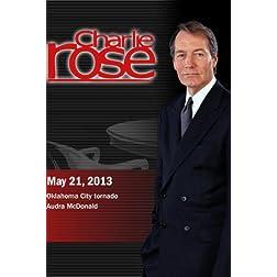 Charlie Rose - Oklahoma City tornado; Audra McDonald (May 21, 2013)