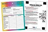 Babysitter Checklist with Infant/Child CPR & Choking Backside - Magnetic, Laminated, Dry Erase Pen