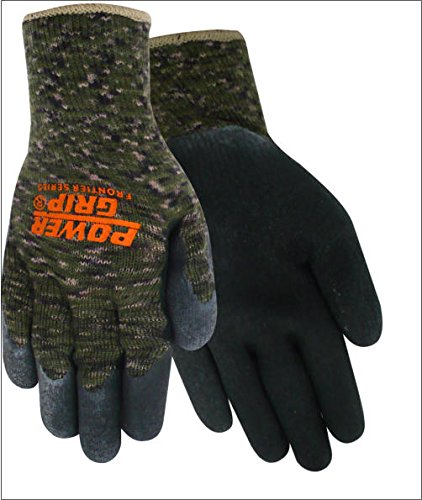 Red Steer Gloves : Red steer powergrip a black small cotton polyester full