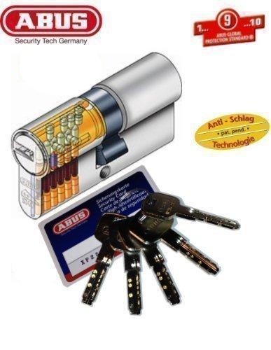 ABUS XP2S Profil-Doppelzylinder Länge 30/50mm mit 5 Schlüssel