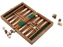 Store Indya Rosewood Backgammon Hand Carved Collector's Magnetic Classic Board Game Set