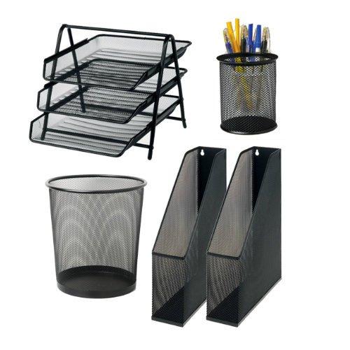 office-depot-desk-set-black-letter-tray-waste-bin-3-magazine-files-and-pen-cup