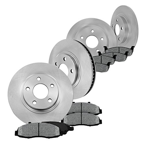 FRONT 320.04 mm + Solid REAR 320 mm Premium OE [4] Rotors + [8] Metallic Brake Pads Kit CM002214 (Dodge Challenger Rt Rotors compare prices)