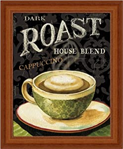 Today's Coffee III by Lisa Audit Dark Roast Kitchen Sign Wall Art Print Framed Décor