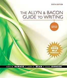 Allyn and Bacon Guide to Writing, Concise Edition, The, MLA Update Edition (5th Edition)
