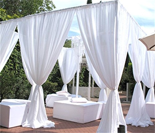 Used Wedding Backdrop Curtains: AK-Trading Chiffon Drapes Panels For Wedding Events