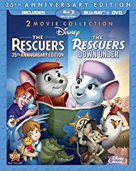 The Rescuers: 35th Anniversary Edition / The Rescuers: Down Under (Blu-ray Combo Pack) 2-Movie Collection [Blu-ray + 2-Disc DVD]