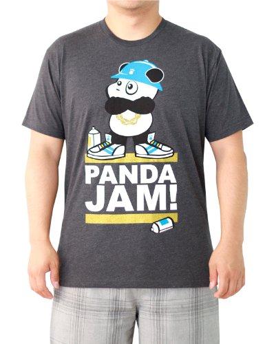 Men'S Hip Hop Panda Jam T-Shirt (Charcoal), Large