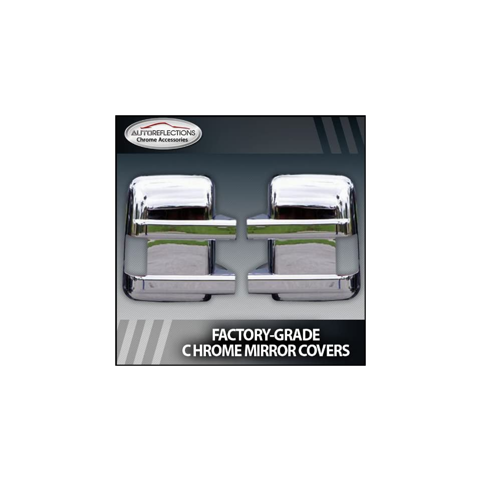 2008 2013 Ford Super Duty Chrome Mirror Covers (Towing Mirror with Turn Signal)
