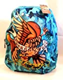 Ed Hardy by Christian Audigier Misha Eagle Backpack in Blue Camo