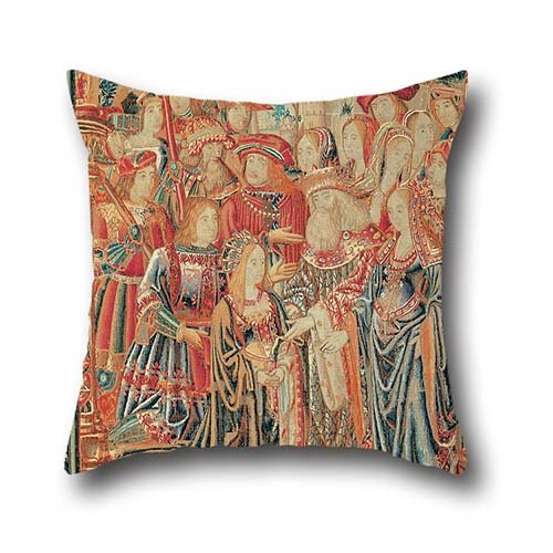 Oil Painting Brussels Manufactory - The Story Of Troy. The Pardon Of Helen Pillow Shams 16 X 16 Inch / 40 By 40 Cm For Adults,office,lounge,gril Friend,home,car Seat With 2 Sides