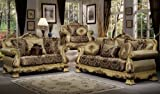 Padua Grand Classic Style Sofa Set (Sofa and Love Seat)