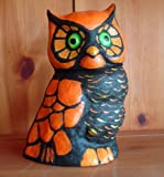 Halloween Decoration - What a Hoot! - Paper Mache Owl By Christopher James - Made in America