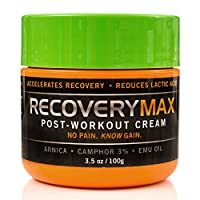RecoveryMax - Post-Workout Cream - Accelerates and Intensify Recovery - Reduce Lactic Acid Buildup - Return to Exercise Quicker - Arnica, Camphor & Emu Oil - 3.5 oz