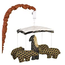 Cotton Tale Designs Animal Stackers Mobile, Red/Black/Tan