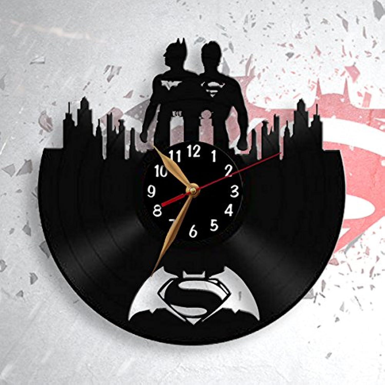 Batman Vs Superman Vinyl Record Wall Clock 12 Inch 30cm