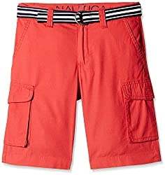 Nautica Kids Boys' Shorts (N465102Q695_Ruby_6 - 7 years)