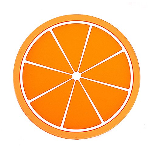 Ieasycan 3pcs Novelty Fruit Design Cute Colorful Cup Mats&Pads Silicone Coaster Cup Holder Drink Placemat Mats Home Table Decoration (Clear Mats For Chevy Cruze compare prices)