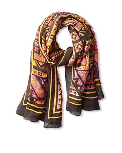 Theodora & Callum Women's Giza Tie-All Scarf, Black Multi