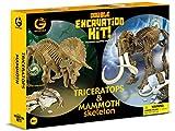 Geoworld 23211145 - Triceratops und Mammut Doppelausgrabungsset hergestellt von Geoworld
