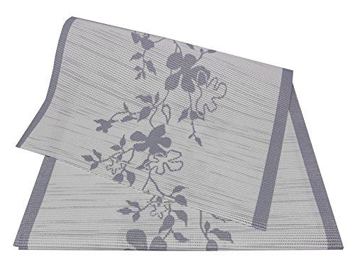 Style My Garden Tischläufer Creme/Grau 150x40cm (F1/17)