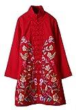 Blouse ou tunique 100% Faite-mian du lin coton - Art de la broderie Chinoise/ Oriental #117