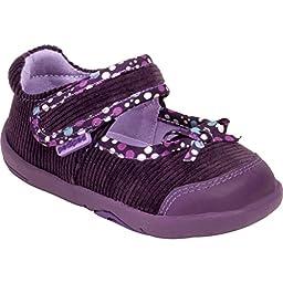 pediped Grip Becky First Walker (Toddler/Little Kid/Big Kid),Purple,20 EU (5 M US Toddler)