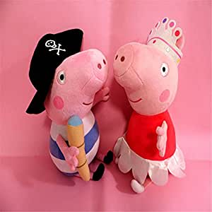Amazon.com: Large Pirate George Peppa PIG + Crown PIG Soft