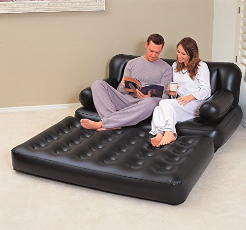 bestway multi functional couch black with air pump. Black Bedroom Furniture Sets. Home Design Ideas