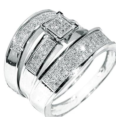 wedding ring trio sets