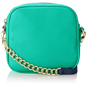 olivia + joy St. Mortiz Cross Body Bag,Navy/Aqua,One Size