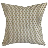 The Pillow Collection Barberry Geometric Pillow, Gray