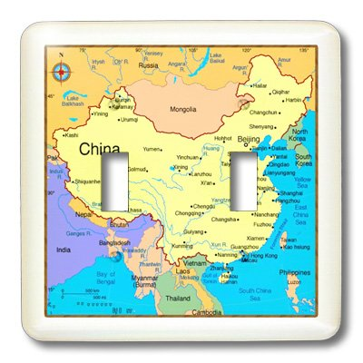 3Drose Llc Lsp_109971_2 Map Of Modern Day China Double Toggle Switch