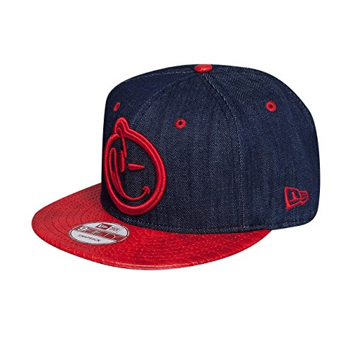 yums-homme-casquettes-snapback-new-era-classic-snakeskin-rouge-reglable
