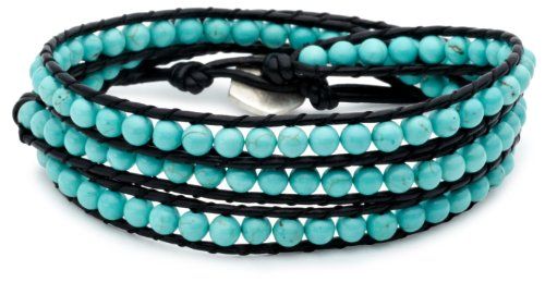 [Rasuke] RUSS  K how light (turquoise blue) 3 bracelets (black l...