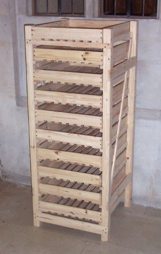 Selections 10 Drawer Wooden Apple Storage Rack